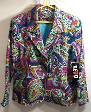 REDD Jacket Blazer Womens Corduroy Pasley Sequins size 16 NEW