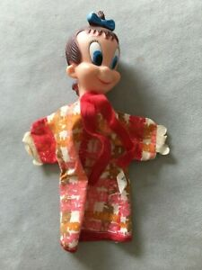 Vintage GUND Little Audrey Hand Puppet with Tag on Clothes, Very Hard to Find!