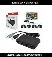 New 4Port Gamecube NGC Controller Adapter Nintendo Wii U Switch & PC Adaptor USB