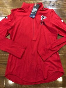 Womens Size Small Under Armour Atlanta Falcons 1/2 Zip Red NFL