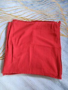 2 Ikea Gurli Red Cushion Covers 50x50cm
