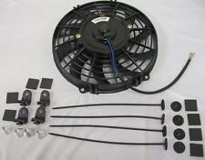 "9"" Inch Universal Curved S-Blade Electric Radiator Cooling Fan w/ Mounting Kit"