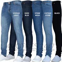 Mens Designer Branded Stretch Skinny Slim Fit Denim Jeans All Waist & Sizes