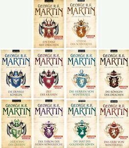 Game of Thrones Das Lied von Eis und Feuer Auswahl von 10 Büchern George Martin