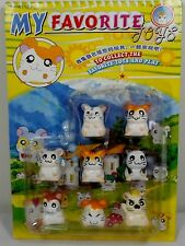 HAMTARO VTG 1.5'' LOT OF 8 x HAM-HAM HAMSTER FIGURES DIFFERENT POSES MOSC SEALED