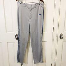 ef06818cc332de Nike Mens Size L Swingman Baseball Pants Gray Royal Blue Full Length