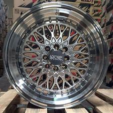 XXR 536 16 x 8 +0 Silver Deep Dish Machine Step Lip Wheels Rims 4x100 Hellaflush