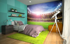 "SOCCER STADIUM Wallpaper 144x100"" Removable Wall Mural Soccer FIFA NFL Fan Pitch"