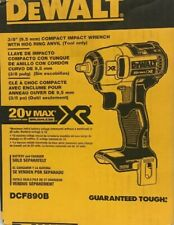 "DeWalt 3/8"" Compact Impact Wrench W/Hog Ring Anvil 20V Max Li-Ion Brushless XR"