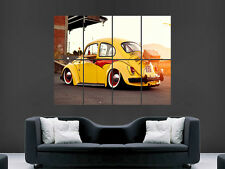 VW BEETLE CLASSIC CAR SUNSET ART HUGE GIANT POSTER PRINT