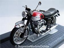 TRIUMPH T120 BONNEVILLE MOTORBIKE 1967 MODEL 1/24TH SCALE IXO BIKE TYPE Y065J^*^