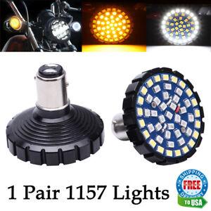 For Harley Sportster Street Road Glide 1157 LED Turn Signals Light Inserts Bulbs