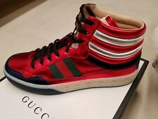 792bdc1c2d2 Gucci New Metallic Leather Hi-Top Sneaker Mens NWT 14 UK 15 US  790