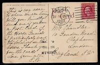 1909 Oakland, California to London, England - Alameda Beach Postcard