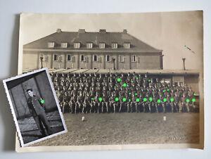 2x orig Foto Reichsarbeitsdienst RAD 74 Rendsburg Lager großes Gruppen-Bild wk2