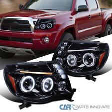 Glossy Piano Black For Toyota 05-11 Tacoma Halo Projector Headlights Left+Right
