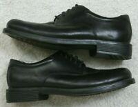 Rockport Black Dress Shoes Leather Uppers Men's Solid 10.5 M Ten 1/2 Mans Oxford