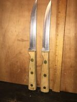 2 Great Blades Knifes Used, Steak Knives Made In Japan.