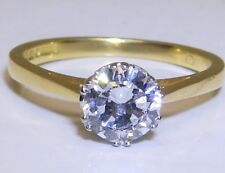 0.75CT DIAMOND SOLITAIRE RING SINGLE STONE ENGAGEMENT 18CT 18 CARAT YELLOW GOLD