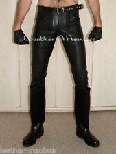 Zunfthose Leder-Hose Lederhose mit Sattel leather pants cuir