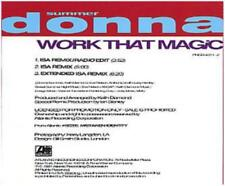 Donna Summer: Work That Magic PROMO MUSIC AUDIO CD ISA Remixes Extended Edits 3t