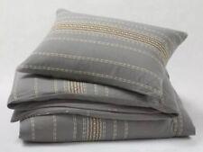 Coyuchi Pewter Grey Rippled Stripe Euro Pillow Sham Organic Cotton Srp $78