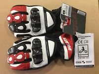 Leather gloves Ducati Performance C2 red in offer genuine ithem Ducati Size 2xl