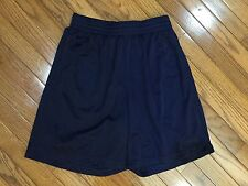 Reebok Navy Blue Athletic Basketball Shorts Elastic Waist Drawstring Size S