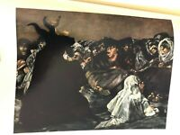 "16 Full Color Prints Goya ""Detail The Witches' Sabbath"" Print, 10 1/2"" x 14 1/2"""