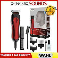 Wahl T-Pro Corded Men's Hair Trimmer Clipper Kit T-Blade Detailing with 3 Combs