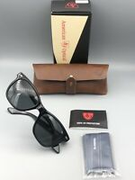 New American Optical Saratoga Black with Case & Cloth Made in USA Sunglasses