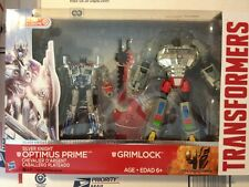TRANSFORMERS Optimus Prime Chrome Silver Knight Grimlock Voyager
