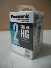 Panasonic Super HG Videocassette 2 Pack TC20SG Sealed