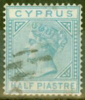 Cyprus 1881 1/2pi Emerald Green SG11 Fine Used