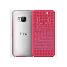 HTC One M9 Dot View Premium Flip Folio Case Cover - Pink