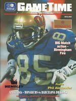 1992 London Monarchs vs. Barcelona Dragons WLAF Football Program  #FWIL
