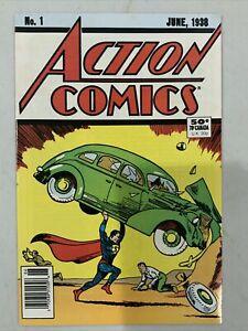Superman Action Comics #1 June 1938 Original Reprint 1988 Fifty Years Comic