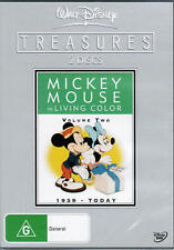 Mickey Mouse In Living Colour: 1939-Today (DVD, 2 Discs) Region 4 Good Condition