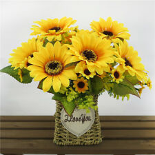 Artificial Bunch Sunflower Spring Flowers Home Office Centerpieces Decor