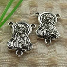 free ship 35 pieces tibetan silver Jesus connector 20x15x4mm #4462