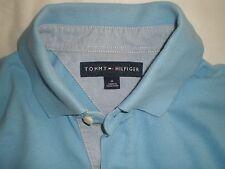 """Para Hombres Camisa Polo Tommy Hilfiger Azul claro medio hecho en Hong Kong Pit 2 hoyo 21"""""""