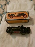 Vintage Avon Glass Car Straight Eight Wild Country After Shave 5 oz-Full w/ Box
