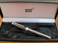 *MONTBLANC MEISTERSTUCK SOLITAIRE* FOUNTAIN PEN-Steel&Carbon-M23544-WITH BOX