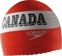 Speedo Latex Swim Cap with comfortable anti-roll edge- Canada