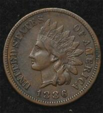 1886 Indian Cent  XF, Type I, scarce in better grade