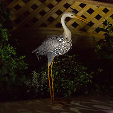Smart Solar Metal Silhouette Heron Outdoor Garden LED Light