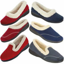 Unbranded Faux Suede Upper Material Standard (B) Width Slippers for Women