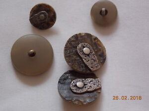 4 Knöpfe, Trachtenknöpfe, 28 mm oder 18 mm, Braun, Resteverkauf