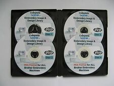 139,877 BROTHER EMBROIDERY Designs Patterns in PES Format  4 DISC DVD BOX SET
