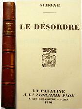 SIMONE/LE DESORDRE/LA PALATINE/EO/1930/BENDA/RARE
